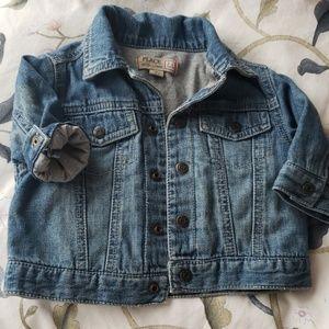 Infant denim coat